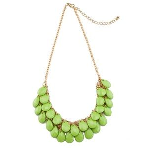Lime green teardrop Necklace